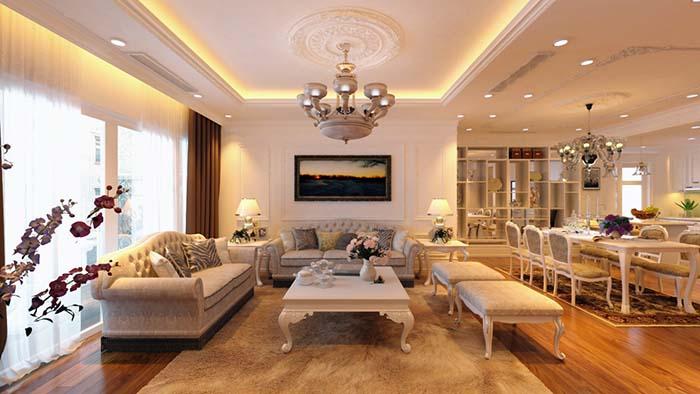Mẫu thiết kế nội thất phòng khách chung cư nhỏ