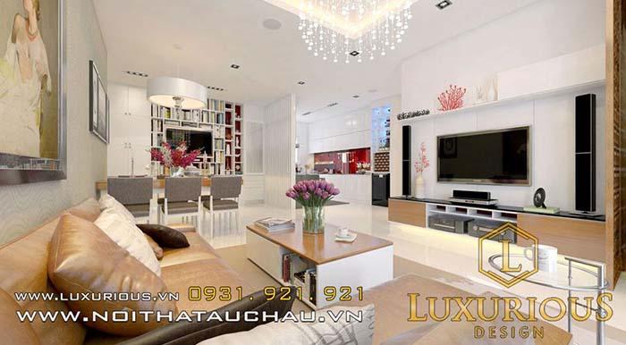 Thiết kế nội thất phòng khách chung cư nhỏ 10m2
