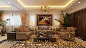 Thiết kế nội thất phòng khách vinhomes imperia hải phòng