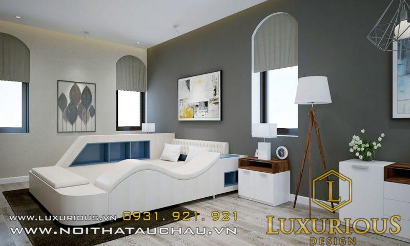 Thiết kế nội thất phòng ngủ biệt thự vernice hải phòng