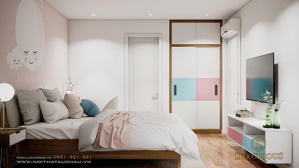 Thiết kế nội thất phòng ngủ cho con ecopark