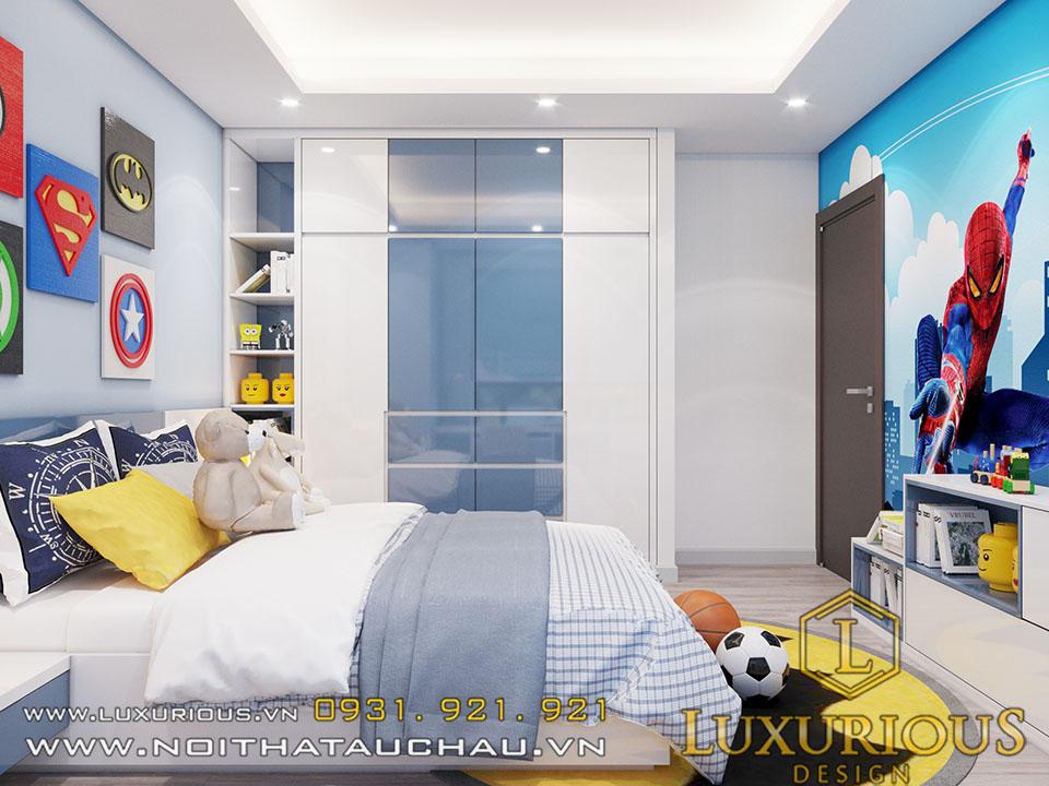 Thiết kế nội thất phòng ngủ chung cư cho con