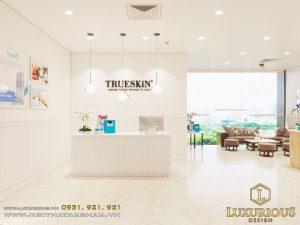 Mẫu thiết kế nội thất spa Trueskin cao cấp