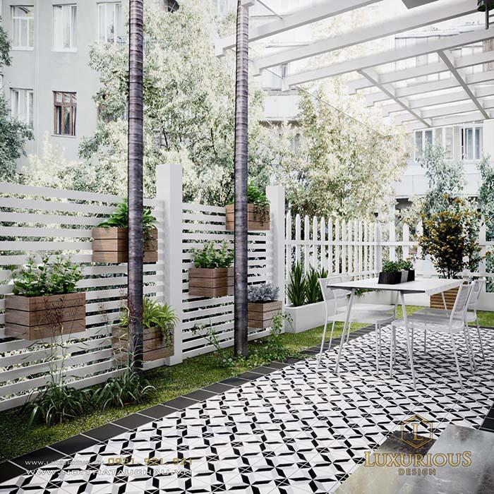 Mẫu thiết kế phối cảnh sân vườn