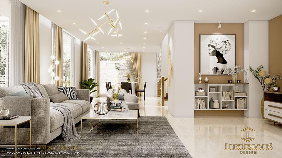 Thiết kế phòng khách ecopark đẹp