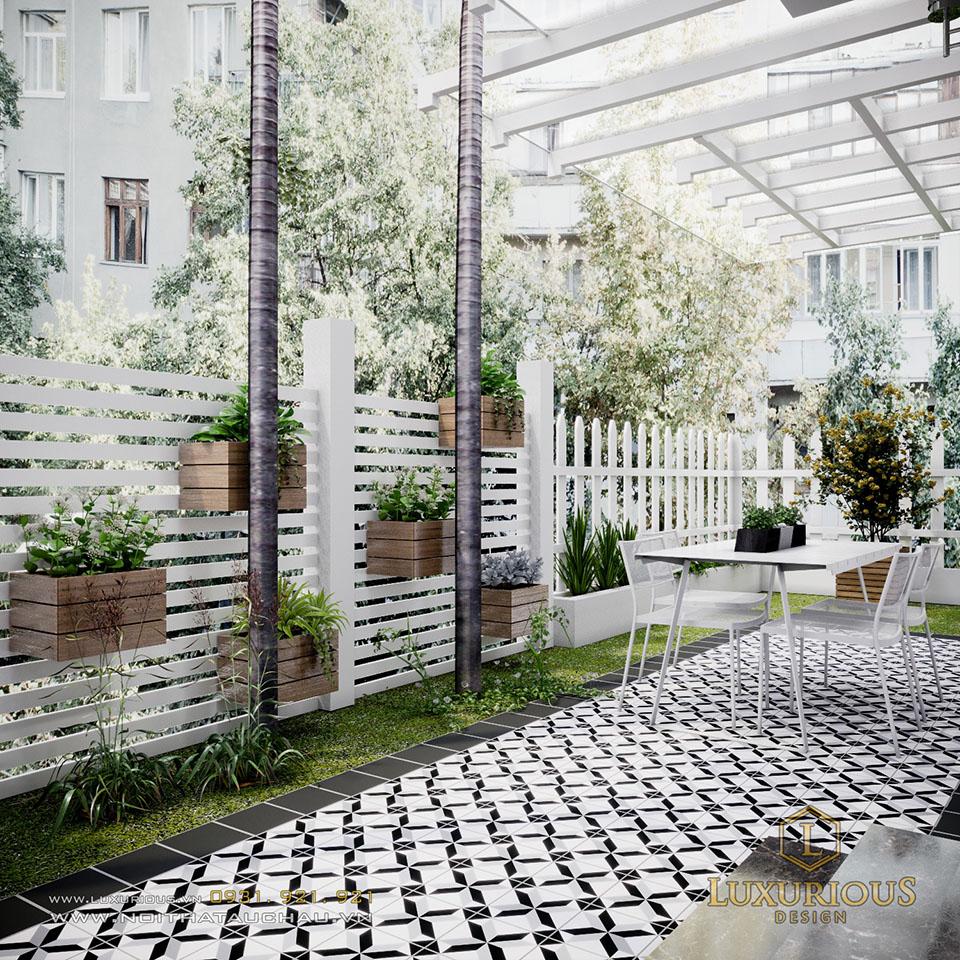 Thiết kế cảnh quan sân vườn biệt thự ecopark