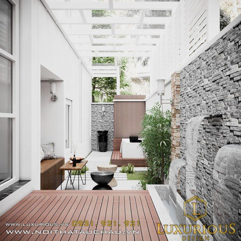 Thiết kế sân vườn biệt thự hải phòng