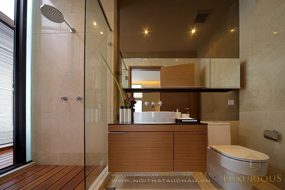 Mẫu thiết kế nhà vệ sinh biệt thự đẹp