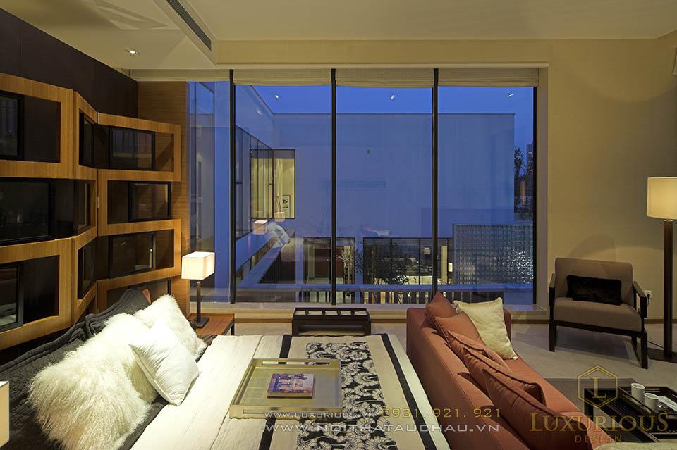 Thiết kế thi công nội thất nhà biệt thự 4 phòng ngủ hiện đại 2