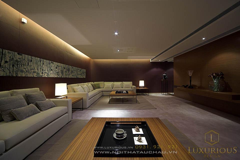 Mẫu thiết kế phòng khách nhà biệt thự