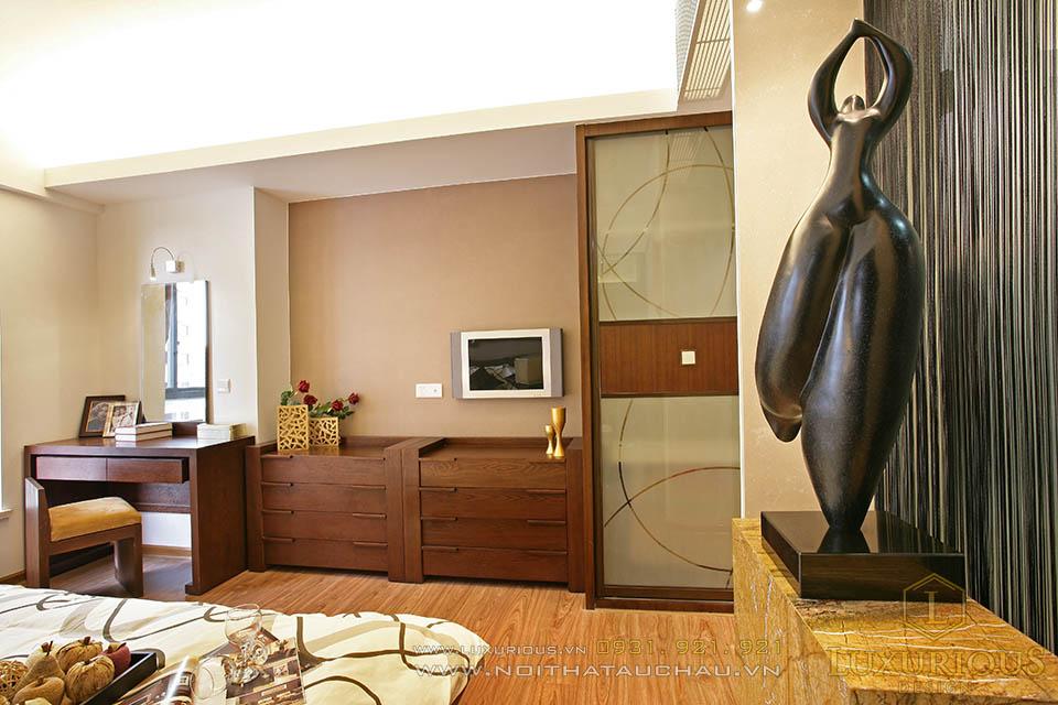 Thiết kế thi công nội thất căn hộ chung cư 90m2 2 phòng ngủ
