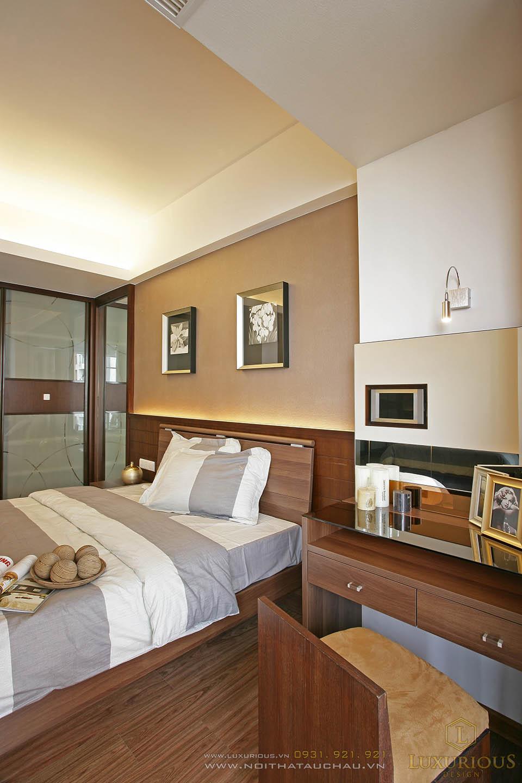 Thiết kế nội thất phòng ngủ chung cư 90m2 2 phòng ngủ
