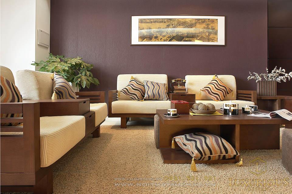 Mẫu thiết kế nội thất phòng khách chung cư cao cấp
