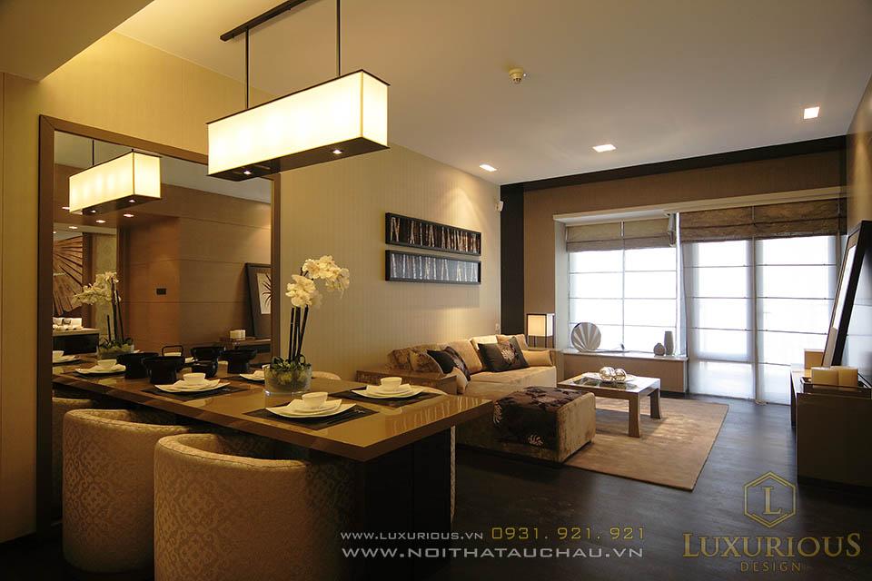 Thiết kế nội thất phòng bếp chung cư triệu đô