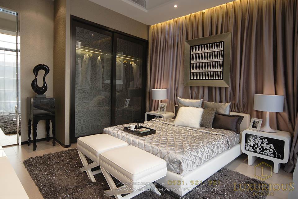 Thiết kế thi công nội thất phòng ngủ master nhà phố