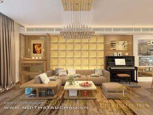 Thiết kế thi công nội thất trọn gói phòng khách