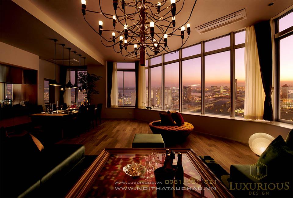 Mẫu thiết kế nội thất penthouse Hà Nội