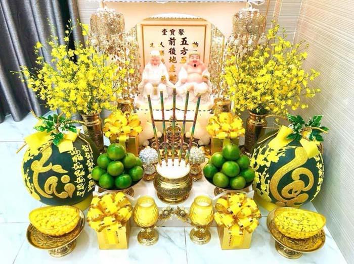 Vị trí đặt bàn thờ thần tài ông địa