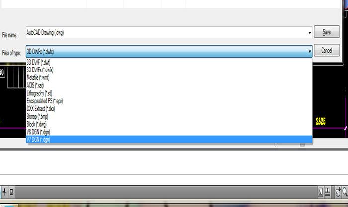 Giao diện lưu file Autocad