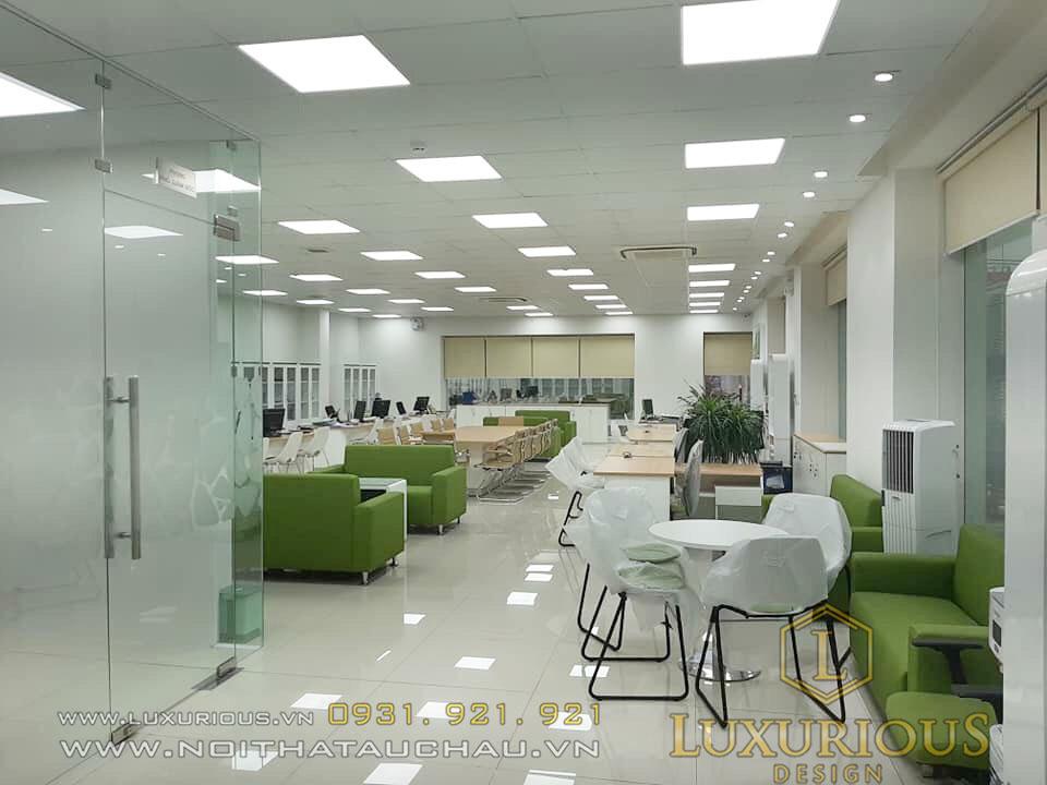 Đơn vị thi công văn phòng giao dịch ngân hàng Vietcombank