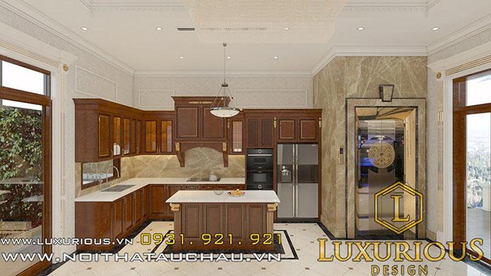 Mẫu thiết kế nội thất phòng bếp biệt thự Vinhomes the Harmony