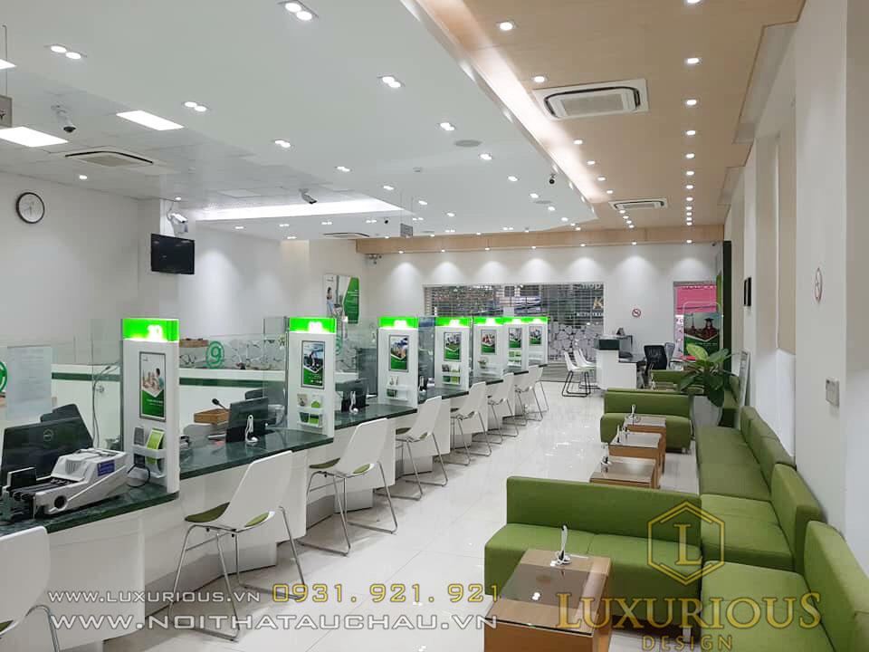 Thi công phòng giao dịch ngân hàng Vietcombank