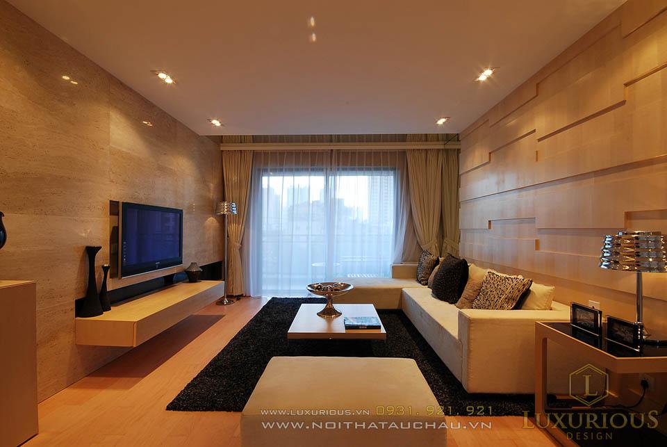 Thi công nội thất căn hộ chung cư 80m2 2 phòng ngủ