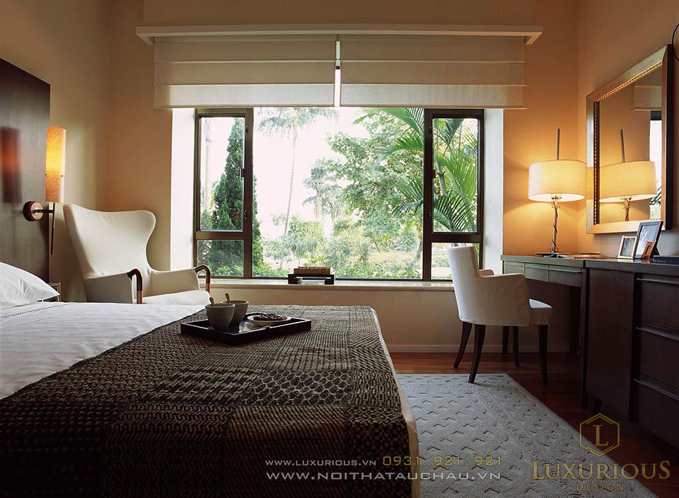Phòng ngủ nhà biệt thự 2 tầng mái thái