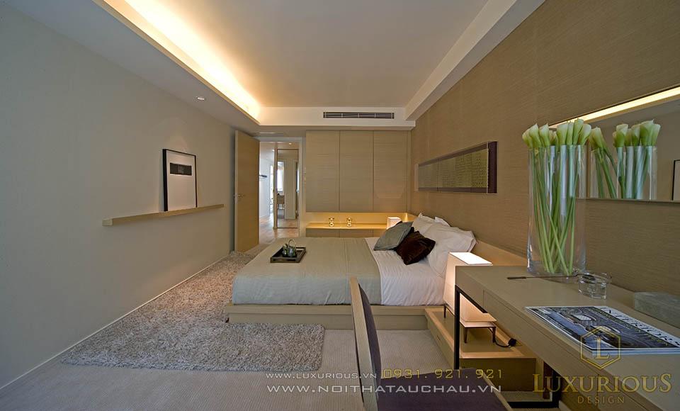 Phòng ngủ nhà biệt thự 120m2 sang trọng ấm cúng