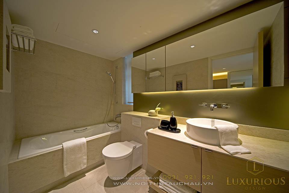 Thi công nội thất phòng vệ sinh nhà biệt thự  120m2