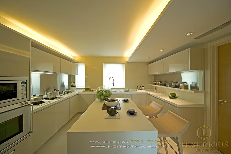 Thi công nội thất phòng bếp nhà biệt thự hiện đại, sang trọng và tinh tế