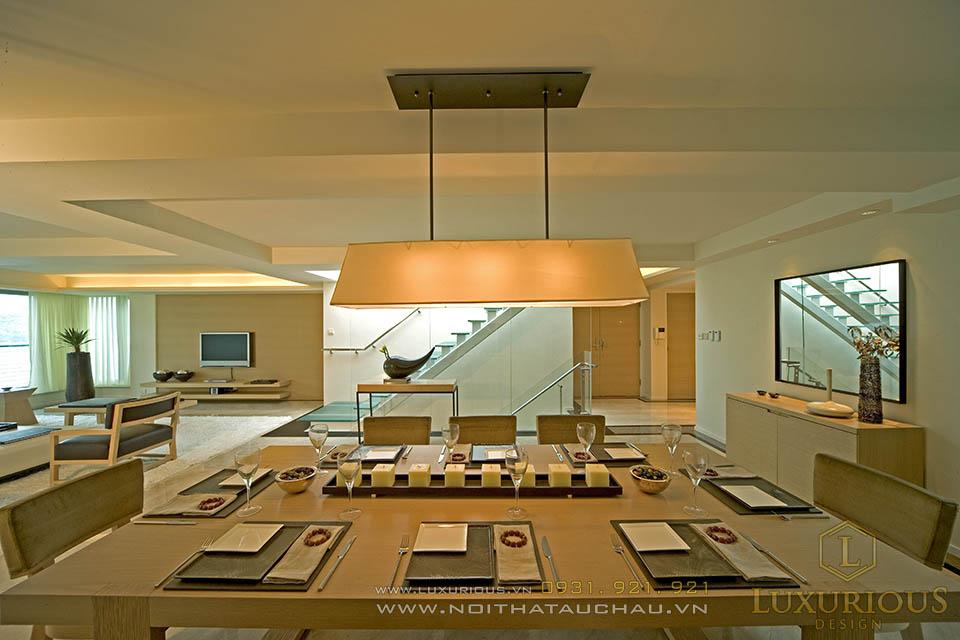 Nội thất phòng ăn nhà biệt thự hiện đại, sang trọng và tinh tế