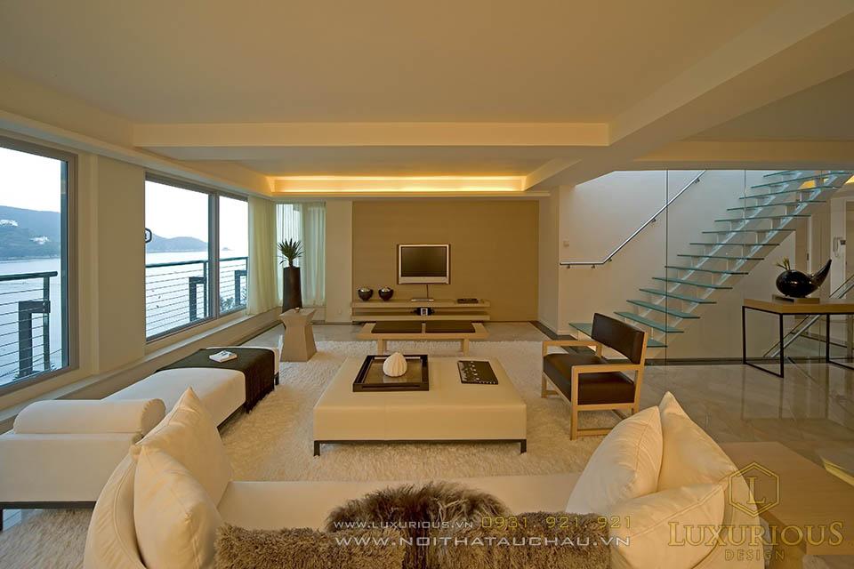 Thi công nội thất nhà biệt thự 3 tầng 120m2