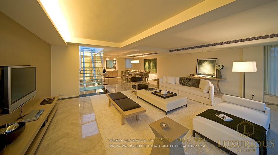 Thiết kế nội thất biệt thự 3 tầng hiện đại 120m2