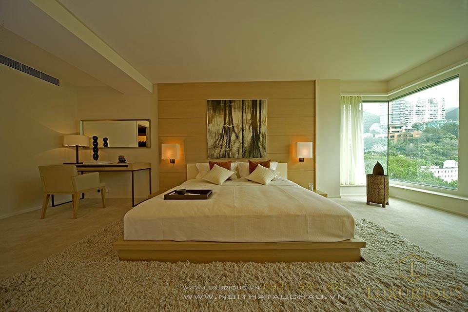 Thiết kế nội thất phòng ngủ nhà biệt thự hiện đại sang trọng lịch lãm
