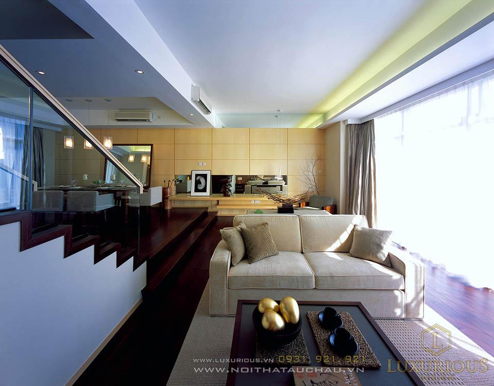 Phòng khách nhà biệt thự hiện đại sang trọng