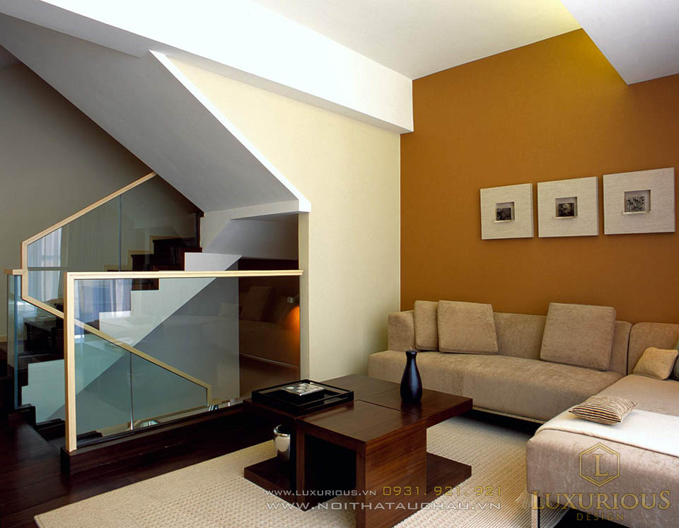 Thiết kế thi công nội thất phòng khách nhà biệt thự hiện đại sang trọng