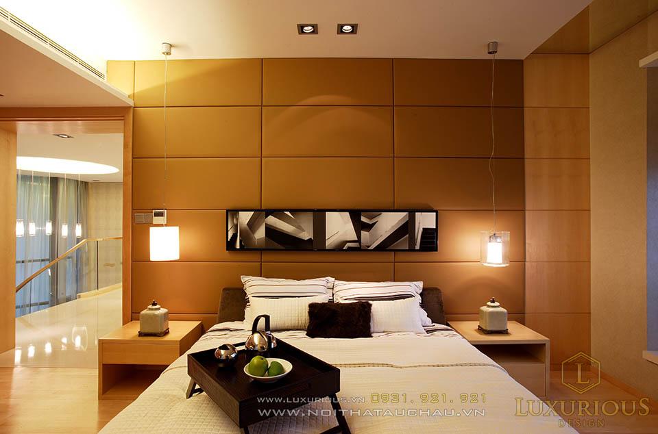Thi công nội thất phòng ngủ căn hộ Penthouses