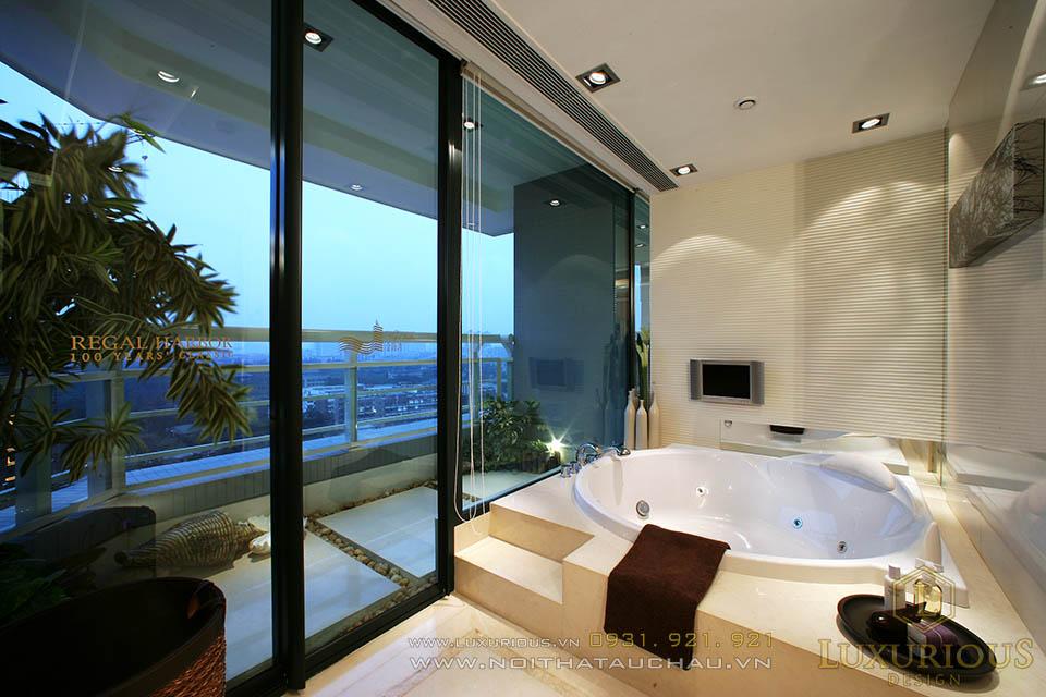 Thi công nội thất phòng vệ sinh căn hộ chung cư Penthouses tại Hà Nội