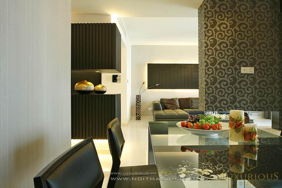 Thi công nội thất chung cư cao cấp 68m2 hiện đại