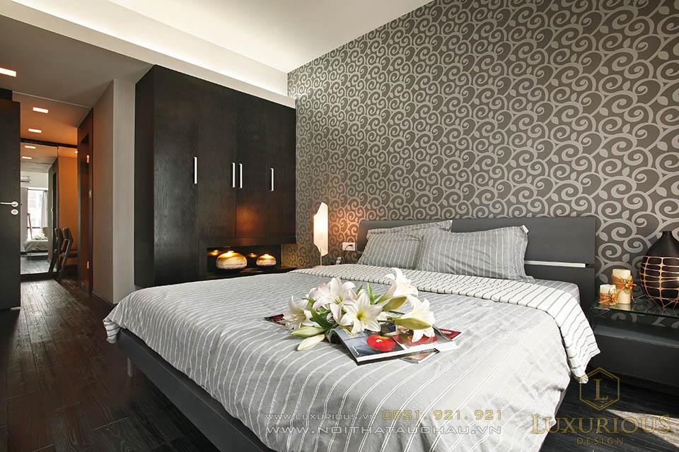 Thi công nội thất phòng ngủ chung cư cao cấp
