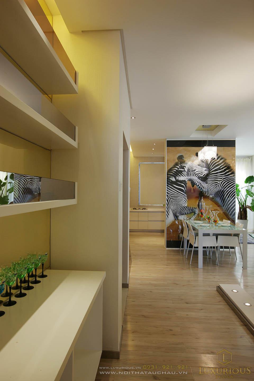 Thi công nội thất chung cư 50m2 2 phòng ngủ hiện đại