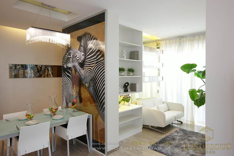 Thi công chung cư giá rẻ 50m2 2 phòng ngủ