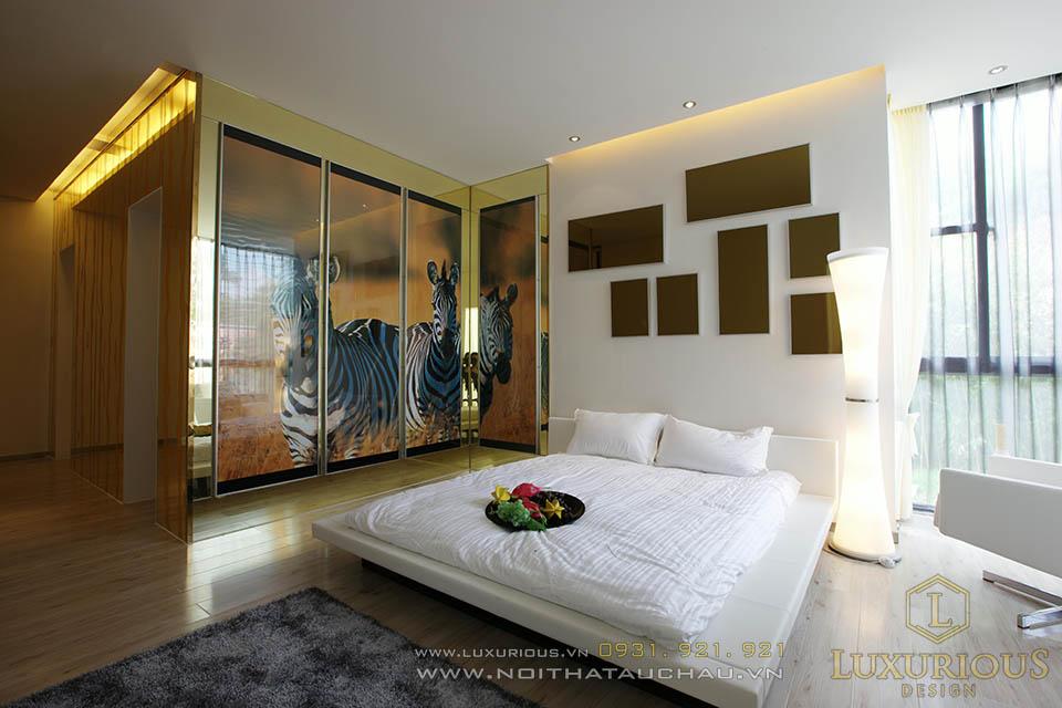 Thi công nội thất phòng ngủ chung cư 50m2