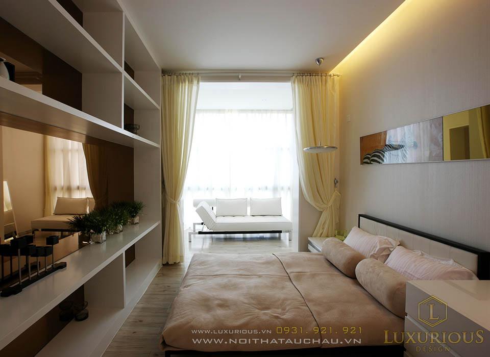 Thi công nội thất chung cư 50m2 2 phòng ngủ