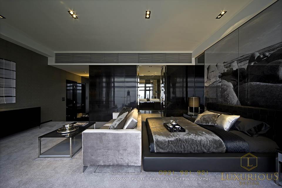 Mẫu thiết kế nội thất phòng ngủ chung cư Penthouses TP Hồ Chí Minh