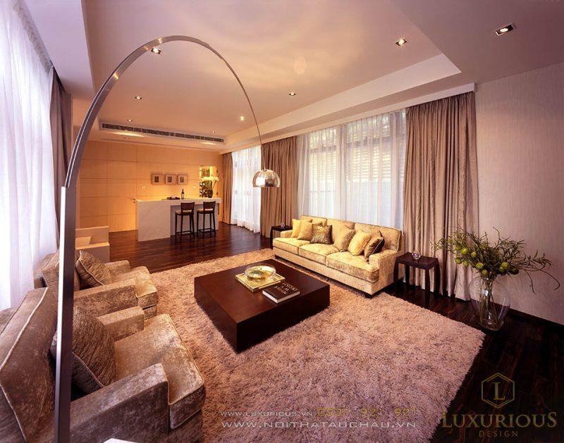 Thiết kế nội thất phong cách châu âu hiện đại nhà lô phố mặt tiền 5m 3 tầng