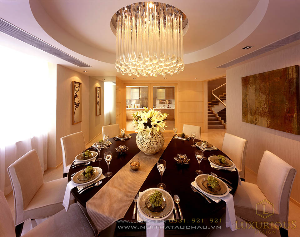 Mẫu thiết kế bàn ăn cho nhà lô phố mặt tiền 5m 3 tầng