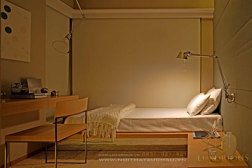 Thiết kế thi công nội thất phòng ngủ nhà phố hiện đại