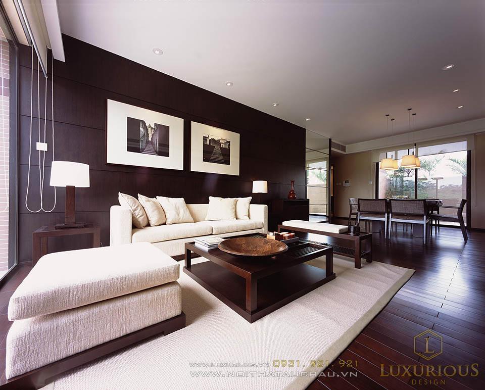 Thi công nội thất phòng khách khu nghỉ dưỡng Đà Nẵng